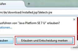Java erlauben
